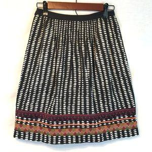 🔴 Anthropologie Edme & Esyllte Border Print Skirt